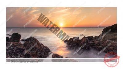 Image of sunset over the Irish Sea by Jared Stubbings